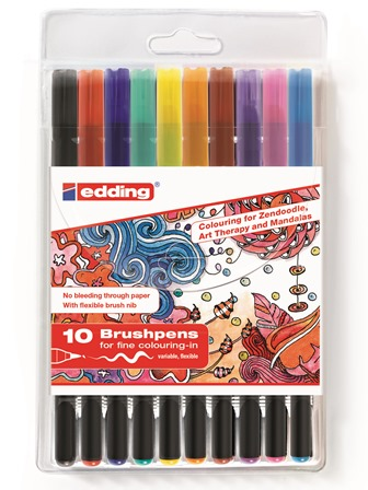 Color brushpennen edding 1340 set van 10 stuks