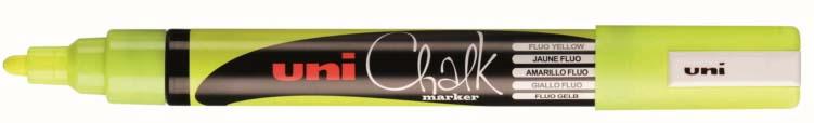 Uniball - Chalkmarker PWE5M fluor geel